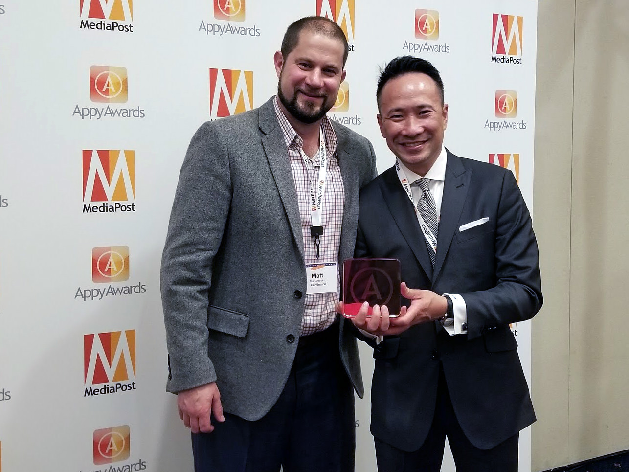 Photo of Matt Chisholm, CEO at Cantina and David Nguyen, Director of Mobile Strategy & Product at Putnam Investment