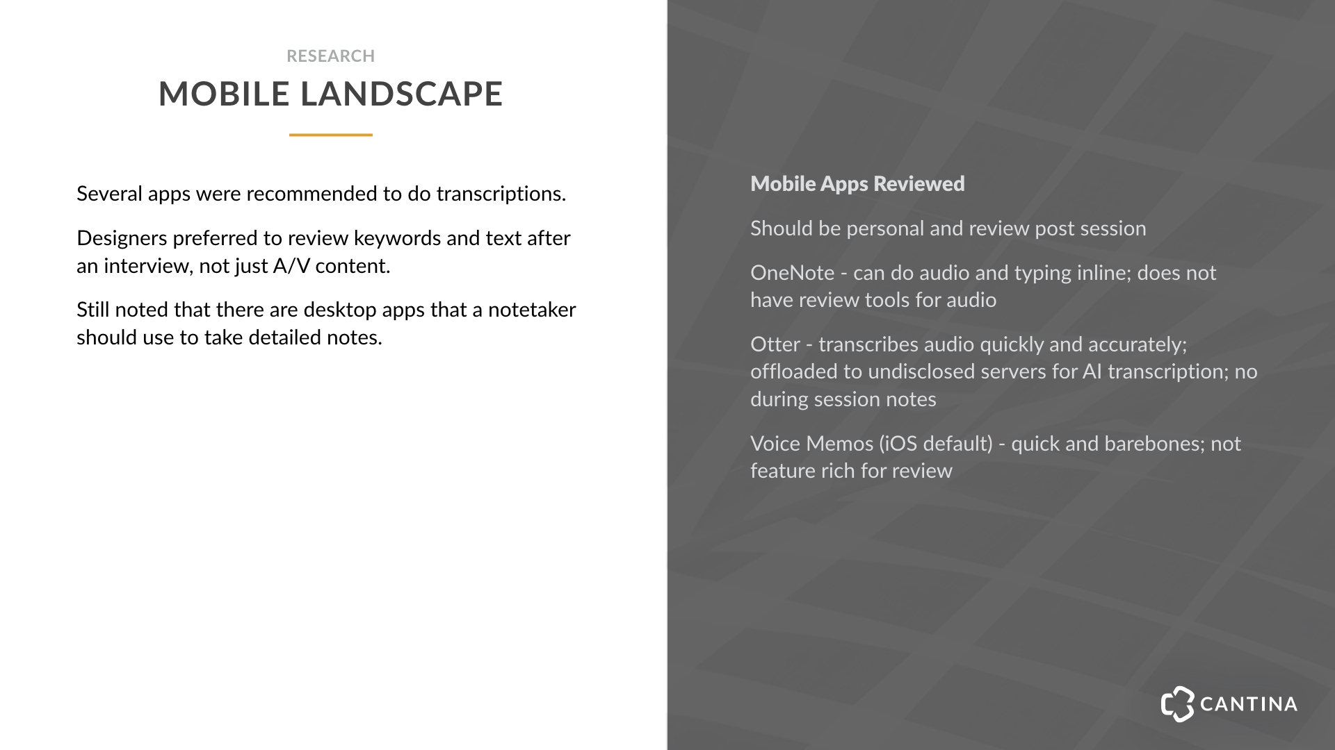 mobile landscape research