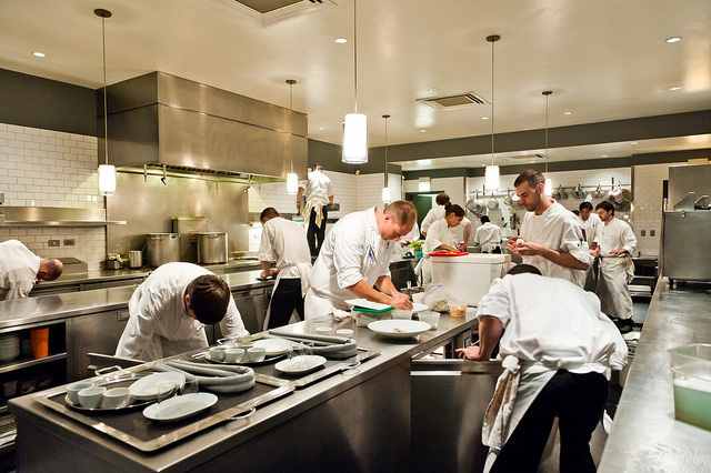 Picture of busy restaurant kitchen