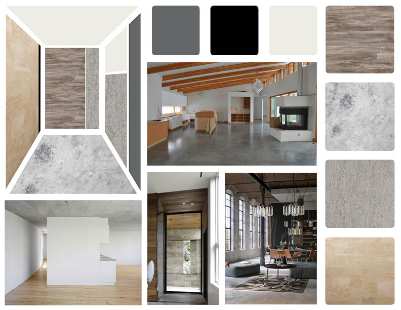 Picture of mood board for an innovation center.